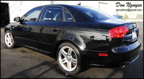 Audi B7 A4 Sedan - Matte Black Window Trim Vinyl Wrap