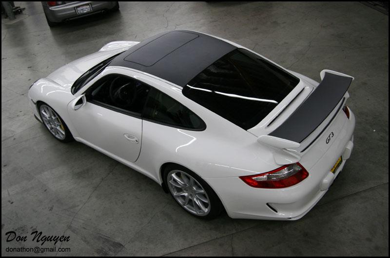 Porsche 997 GT3 - Matte Carbon Fiber Vinyl Roof and Spoiler Wrap