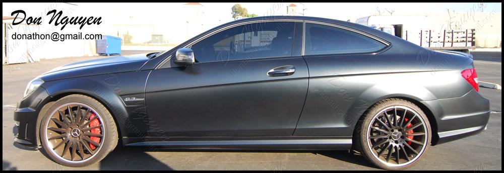 Mercedes Benz C63 Coupe - Gloss Black Window Trim Vinyl Car Wrap