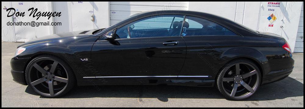 Mercedes Benz CL600 Coupe - Matte Black Window Trim Vinyl Car Wrap