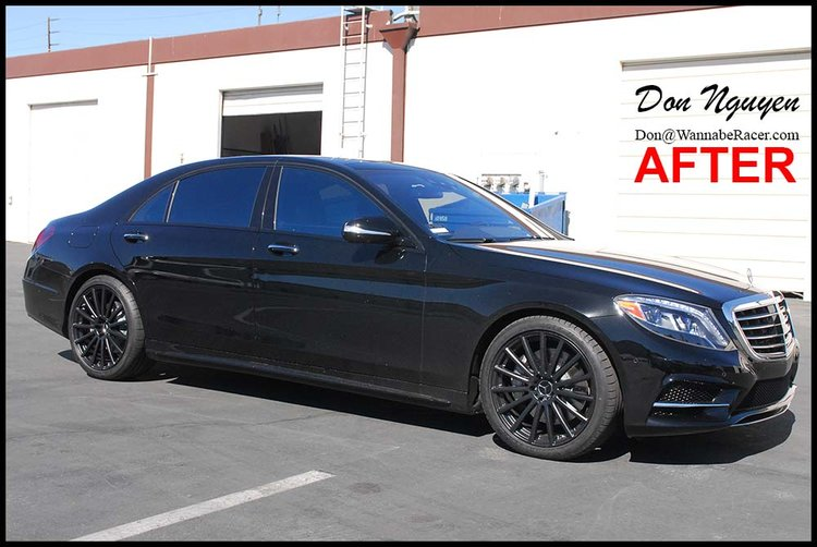 Mercedes Benz S550 - Gloss Black Window Trim Vinyl Car Wrap