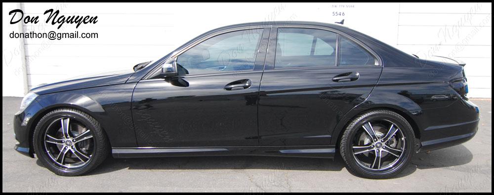 Mercedes Benz C350 Sedan - Gloss Black Window Trim Vinyl Car Wrap