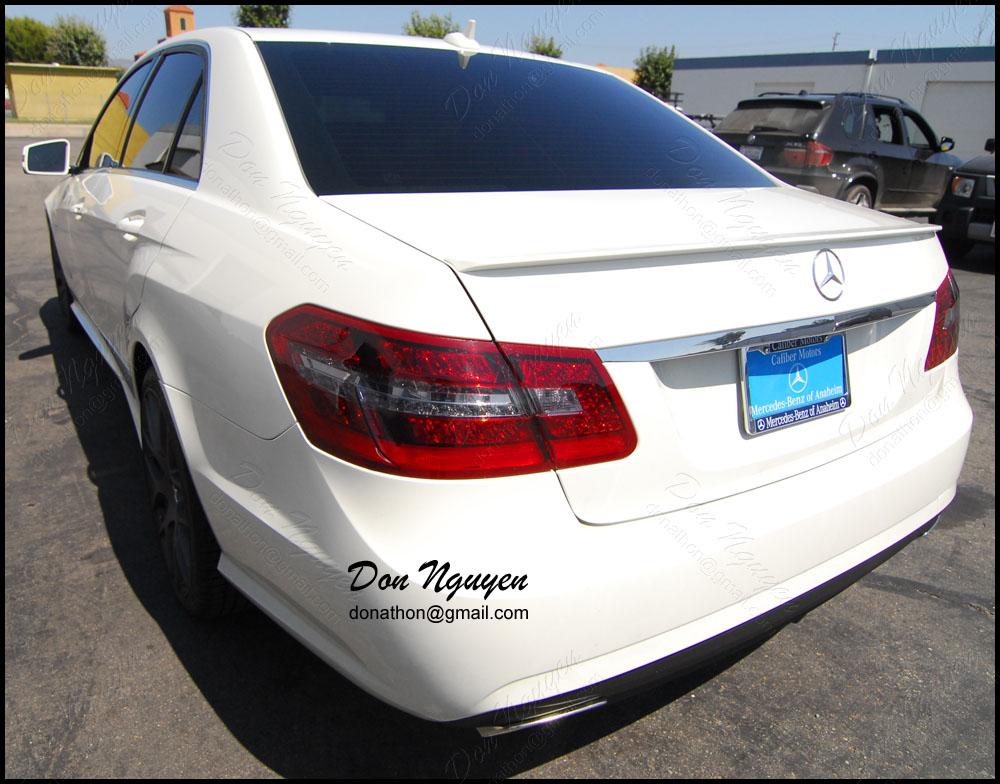 Mercedes Benz E350 Sedan - Tinted / Smoked Rear Tail Light Vinyl Car Wrap