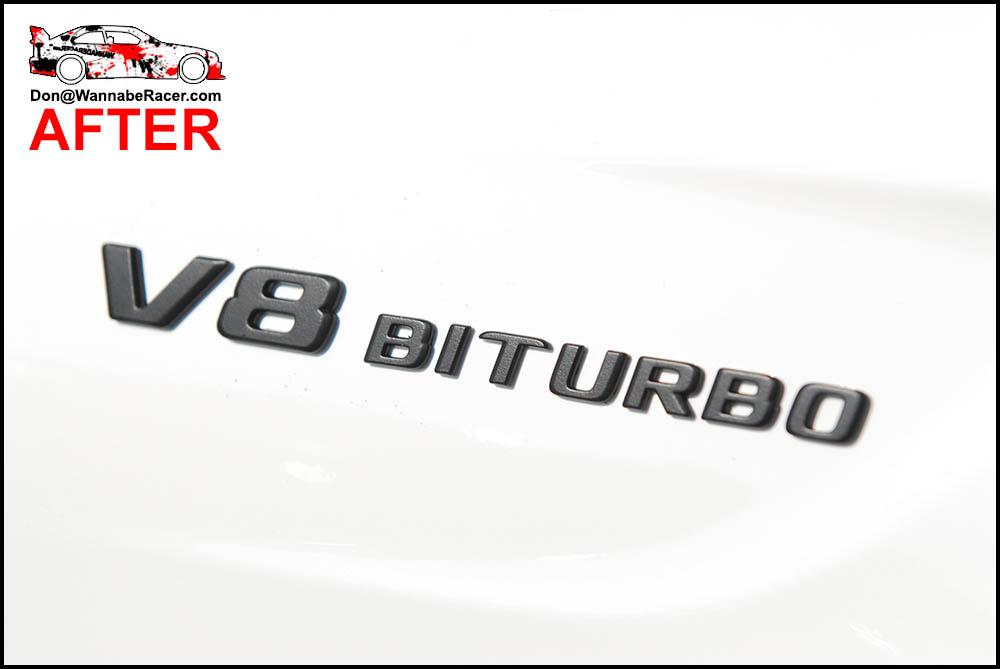 Mercedes Benz C63s Coupe - Plasti Dip Badges, Gloss Black Window Trim and Roof Vinyl Wrap