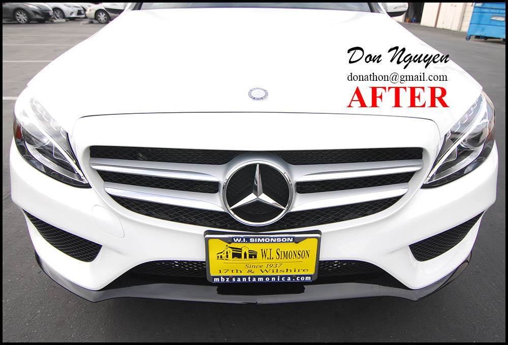 Mercedes C300 W205 - Gloss Black Lower Front and Rear Bumper Car Wrap