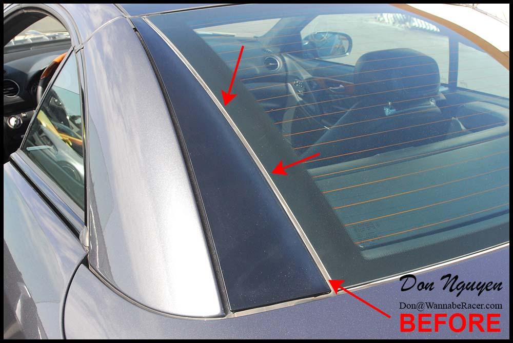Mercedes Benz SL500 Convertible Coupe - Gloss Black Trim Repair Alternative Vinyl Car Wrap