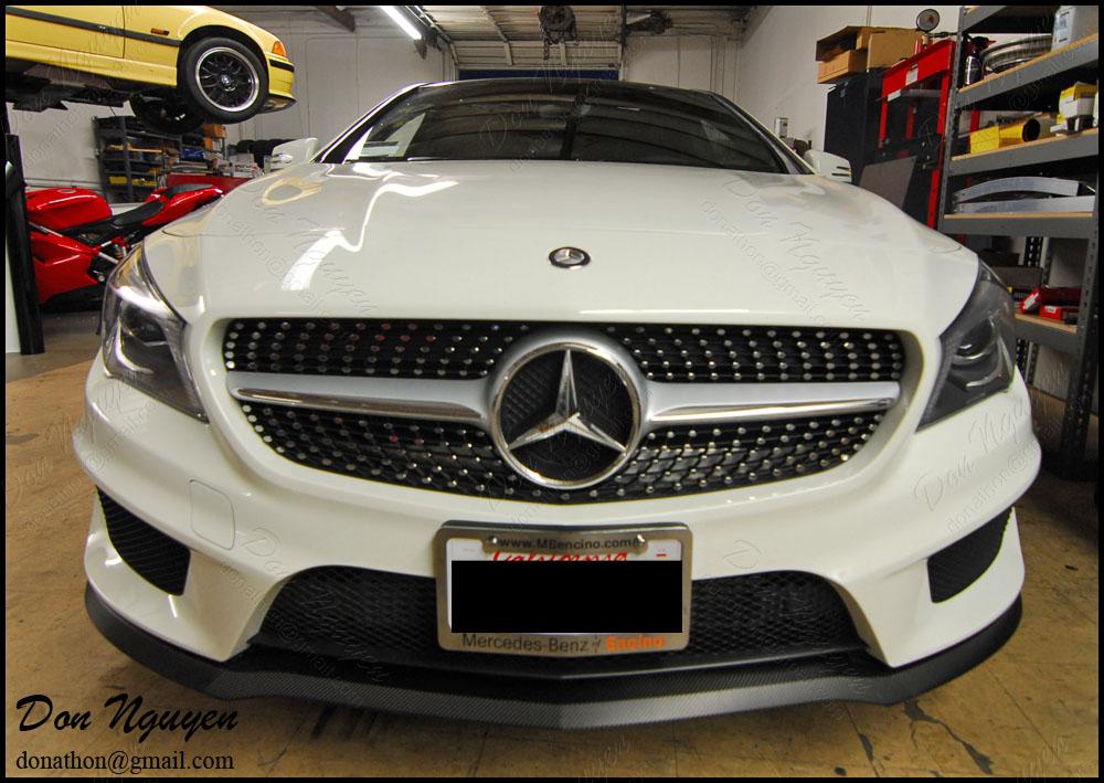 Mercedes Benz CLA250 - 3M Gloss Carbon Fiber Front Lip Vinyl Wrap