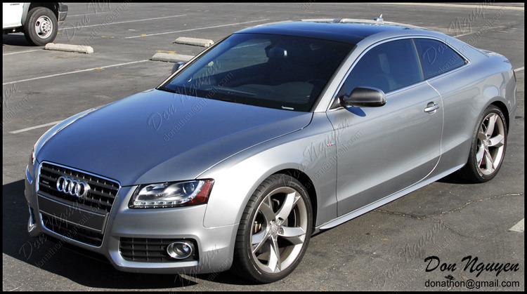 Audi A5 Coupe - Gloss Black Roof Vinyl Car Wrap