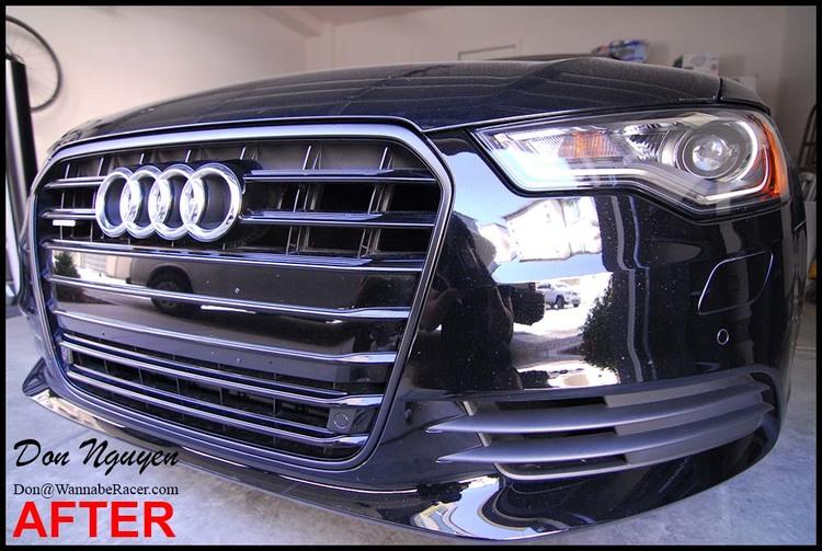 Audi A6 Sedan - Gloss Black Grill and Door Handles Vinyl Car Wrap