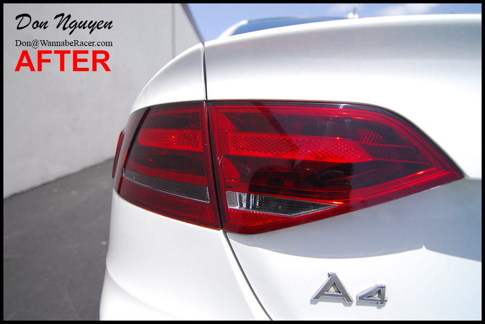 Audi A4 B8 Sedan - Tinted Tail Lights Vinyl Car Wrap