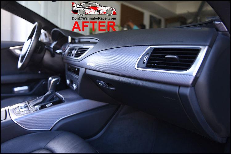 Audi A7 Sedan - 3M 1080 Anthracite Carbon Fiber Interior Vinyl Car Wrap
