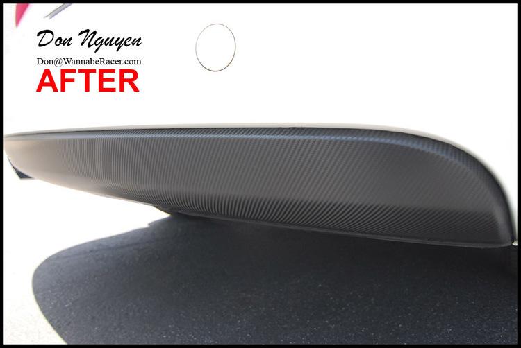 Audi A4 B8 Sedan - Gloss Carbon Fiber Rear Diffuser Car Wrap