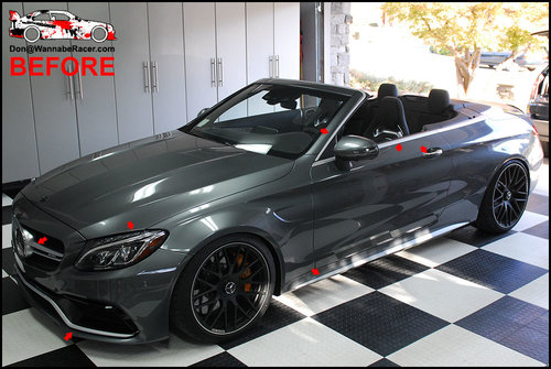 Mercedes C63s Cabriolet - Plasti Dip Glossifier and Gloss