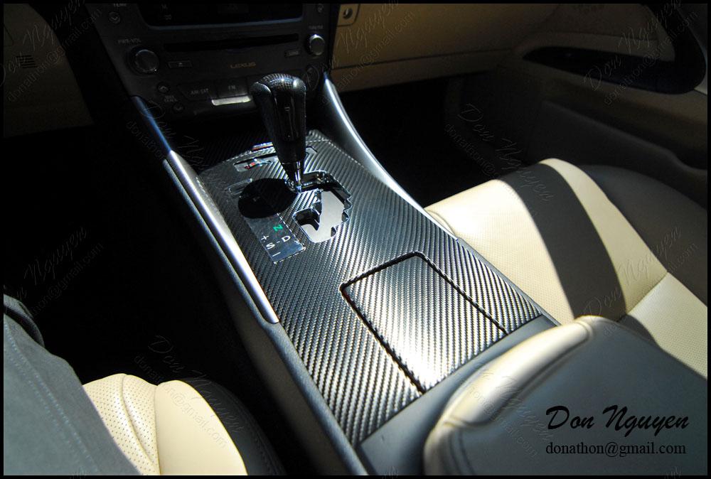 Lexus IS350 Sedan - 3M Gloss Carbon Fiber Interior Vinyl Car Wrap