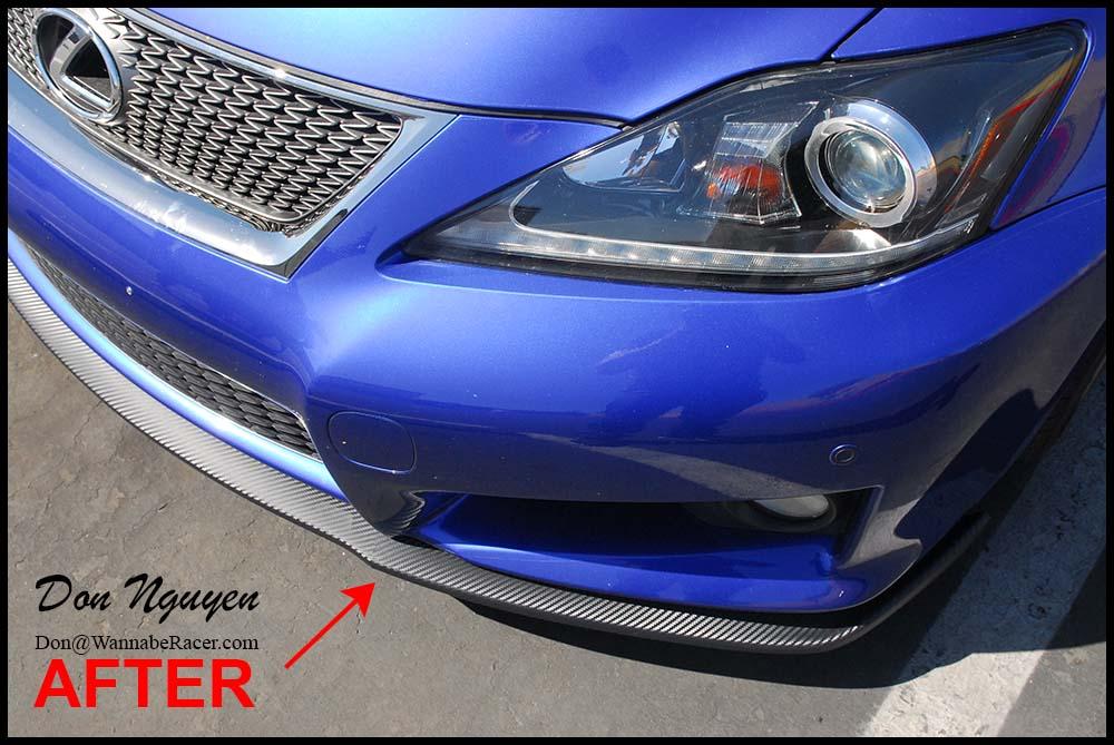 Lexus IS F Sedan - Matte Carbon Fiber Front Lip Vinyl Car Wrap