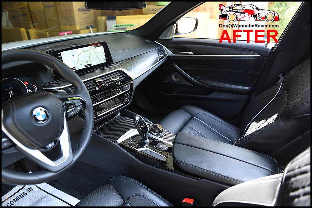 BMW F10 550i Sedan - 3M 1080 Gloss Carbon Fiber Interior Vinyl Car Wrap