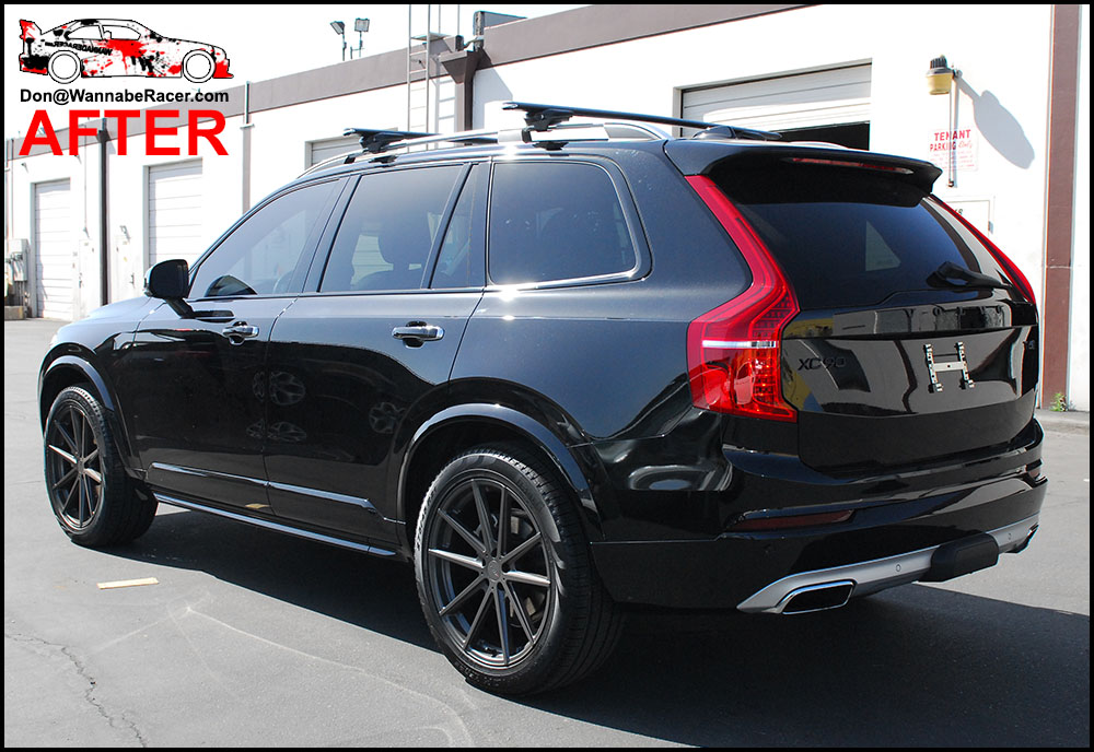 Volvo Of Orange County >> Volvo XC90 SUV - Gloss Black Chrome Delete Vinyl Car Wrap ...