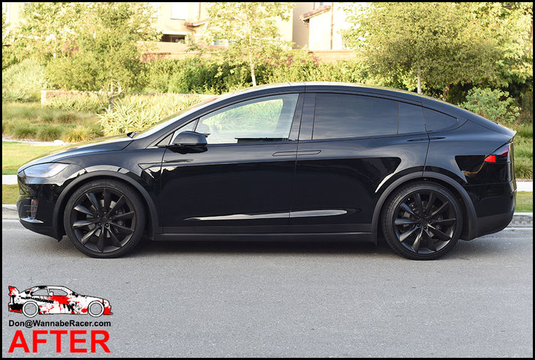 Tesla Model X SUV - Gloss Black Complete Chrome Delete Package Vinyl Car Wrap