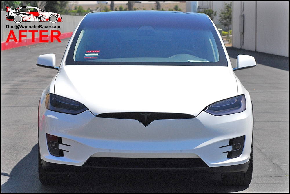 Tesla Model X SUV - Tinted / Smoked Head and Tail Lights Vinyl Car Wrap