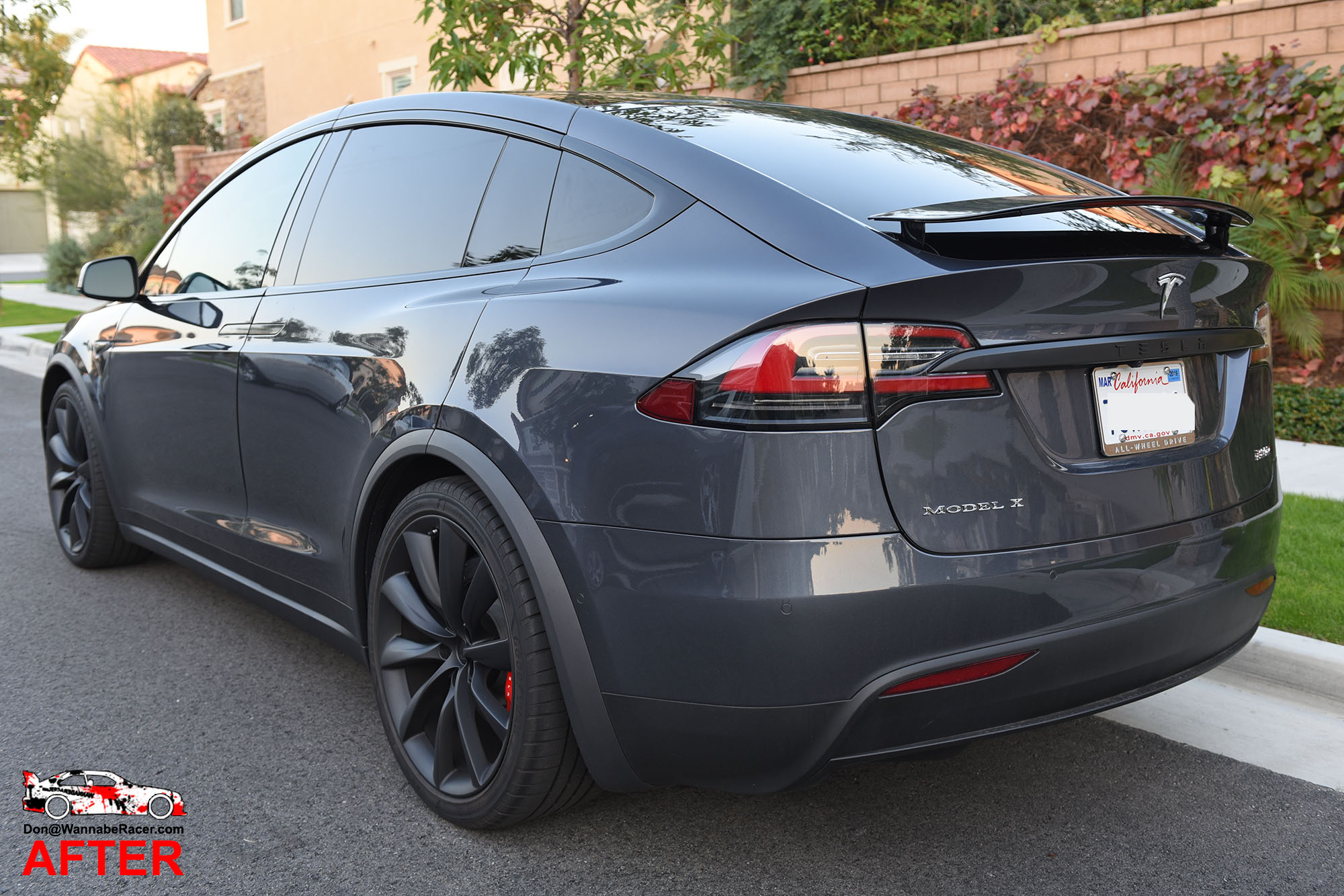 Tesla Model X SUV - Gloss Black Chrome Delete Package Vinyl Car Wrap