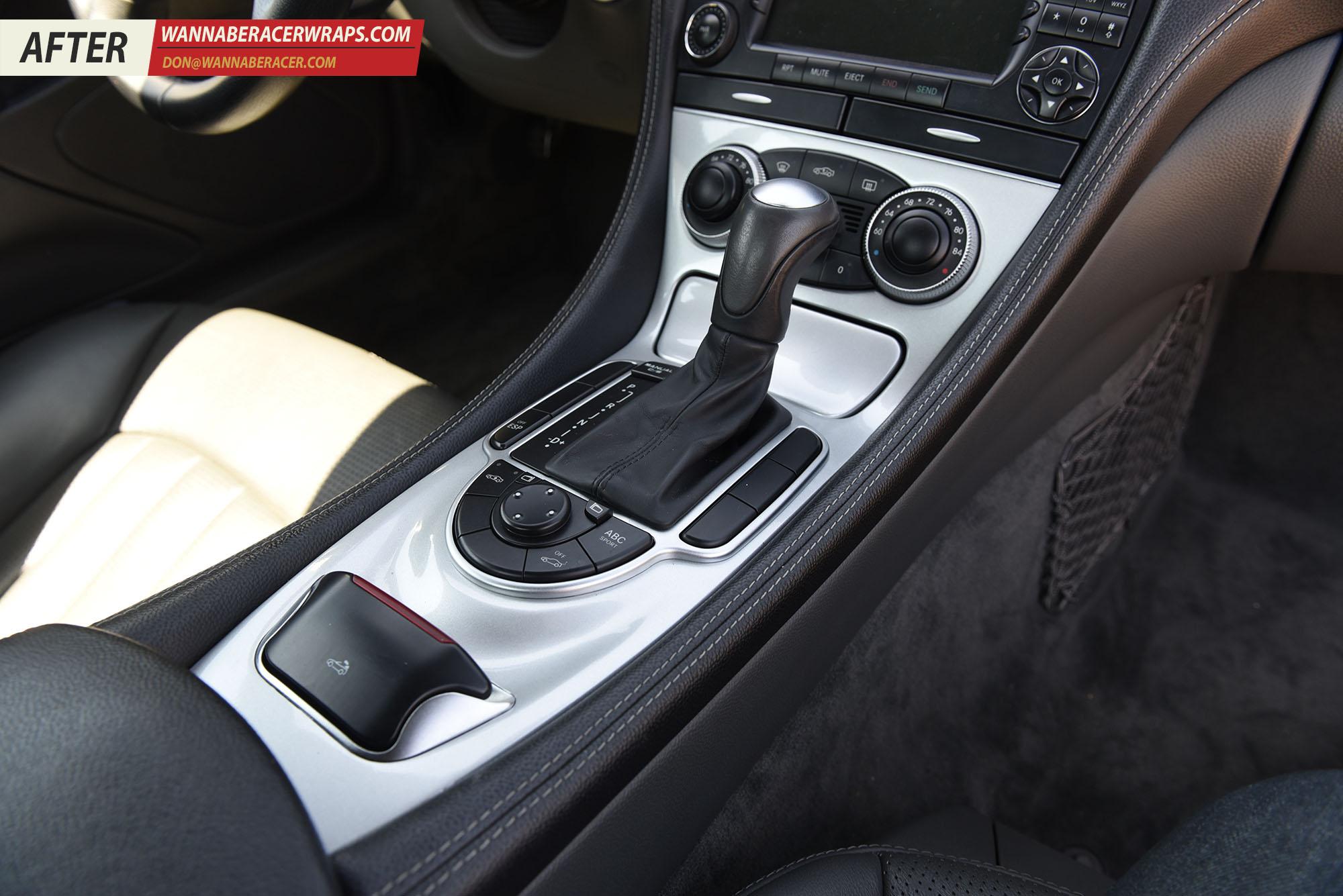 Mercedes SL55 AMG - Gloss Silver 3M 1080 G251 Interior Trim Vinyl Car Wrap