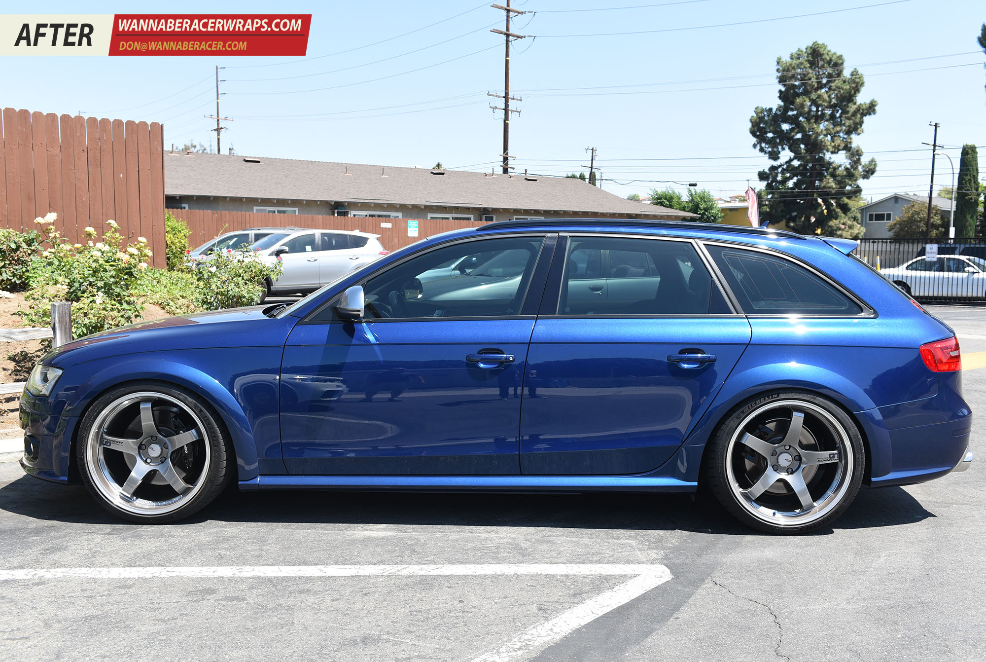Audi A6 Allroad Wagon - Gloss Black Window Trim and Roof Rails Vinyl Car Wrap