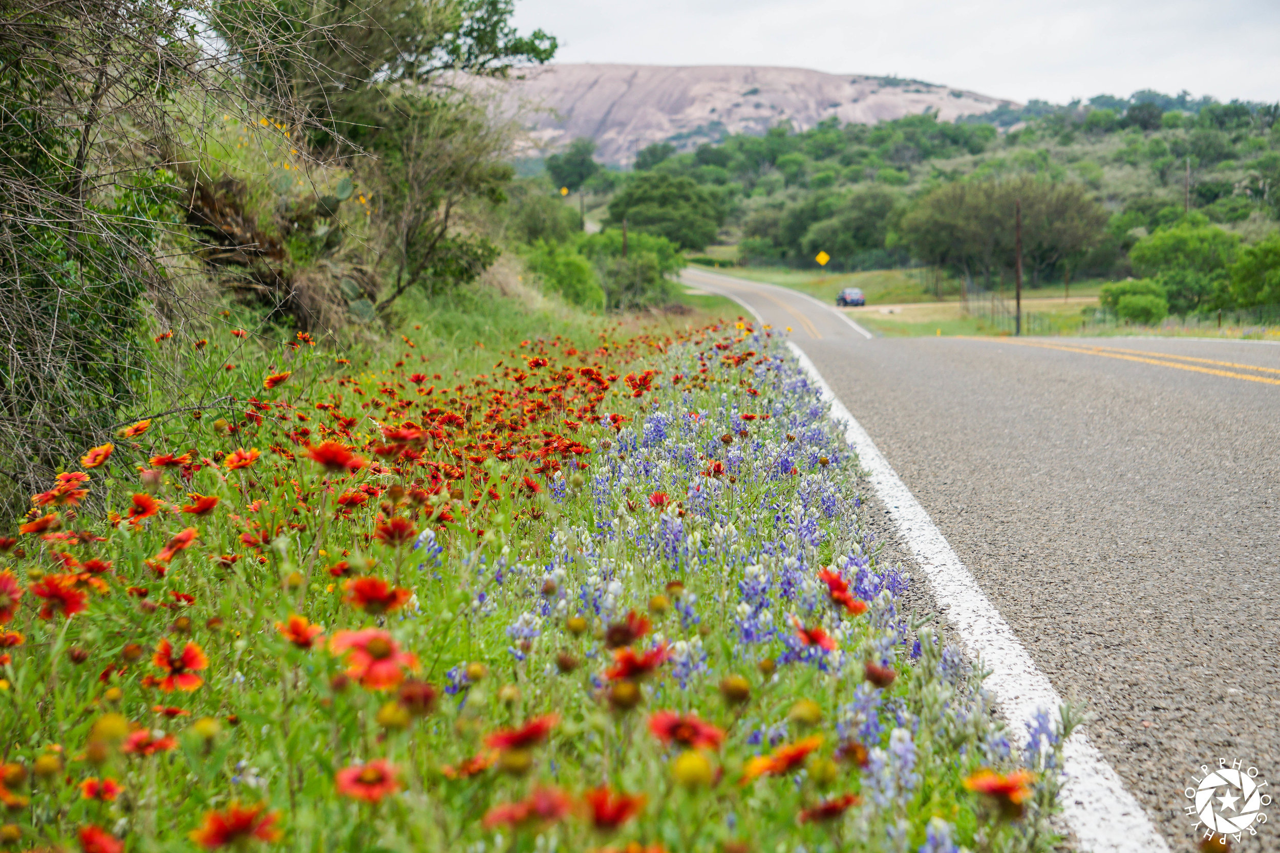 Beautiful drive into Enchanted Rock State Park.