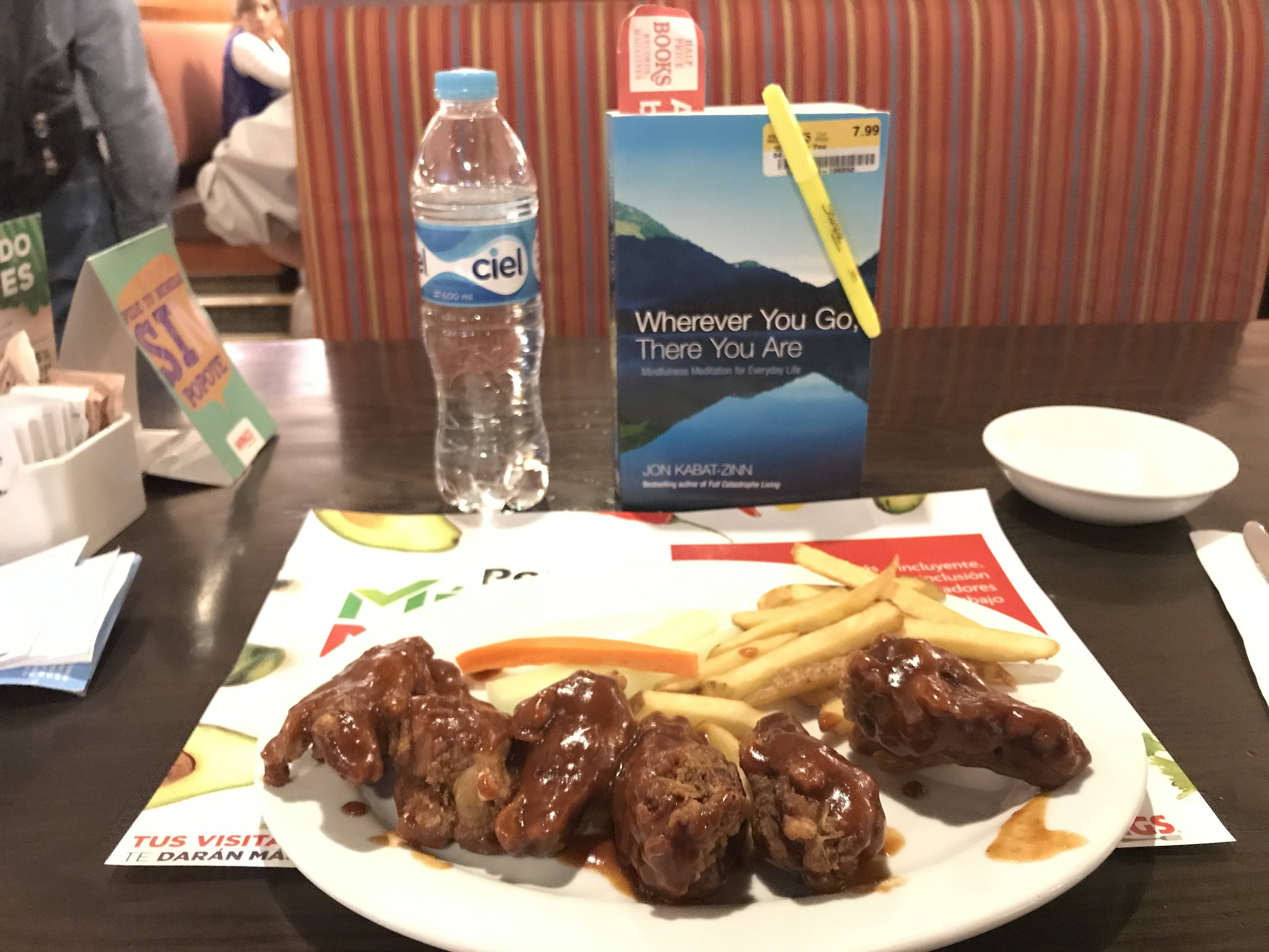Complimentary BBQ Wings at Mexico City Airport