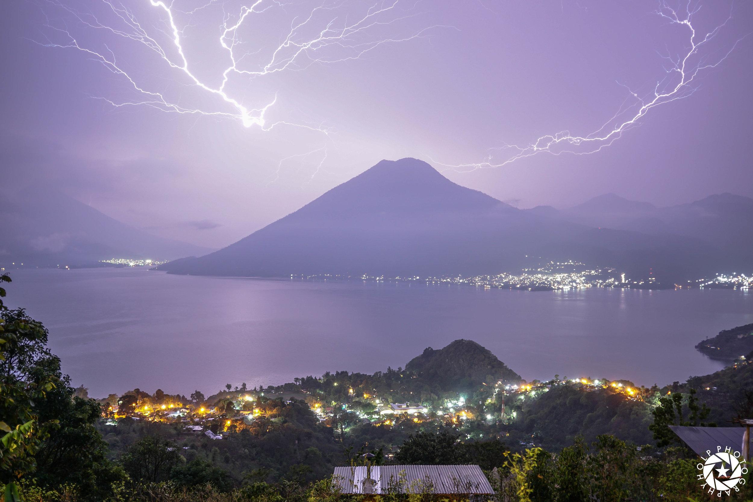 Lightning Over Lake Atitlan
