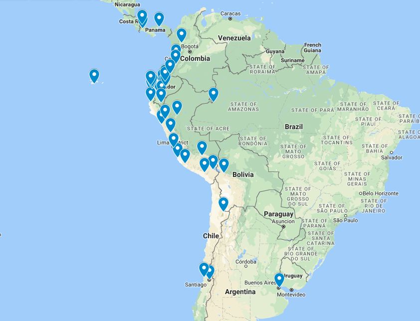 Travel Itinerary in South America