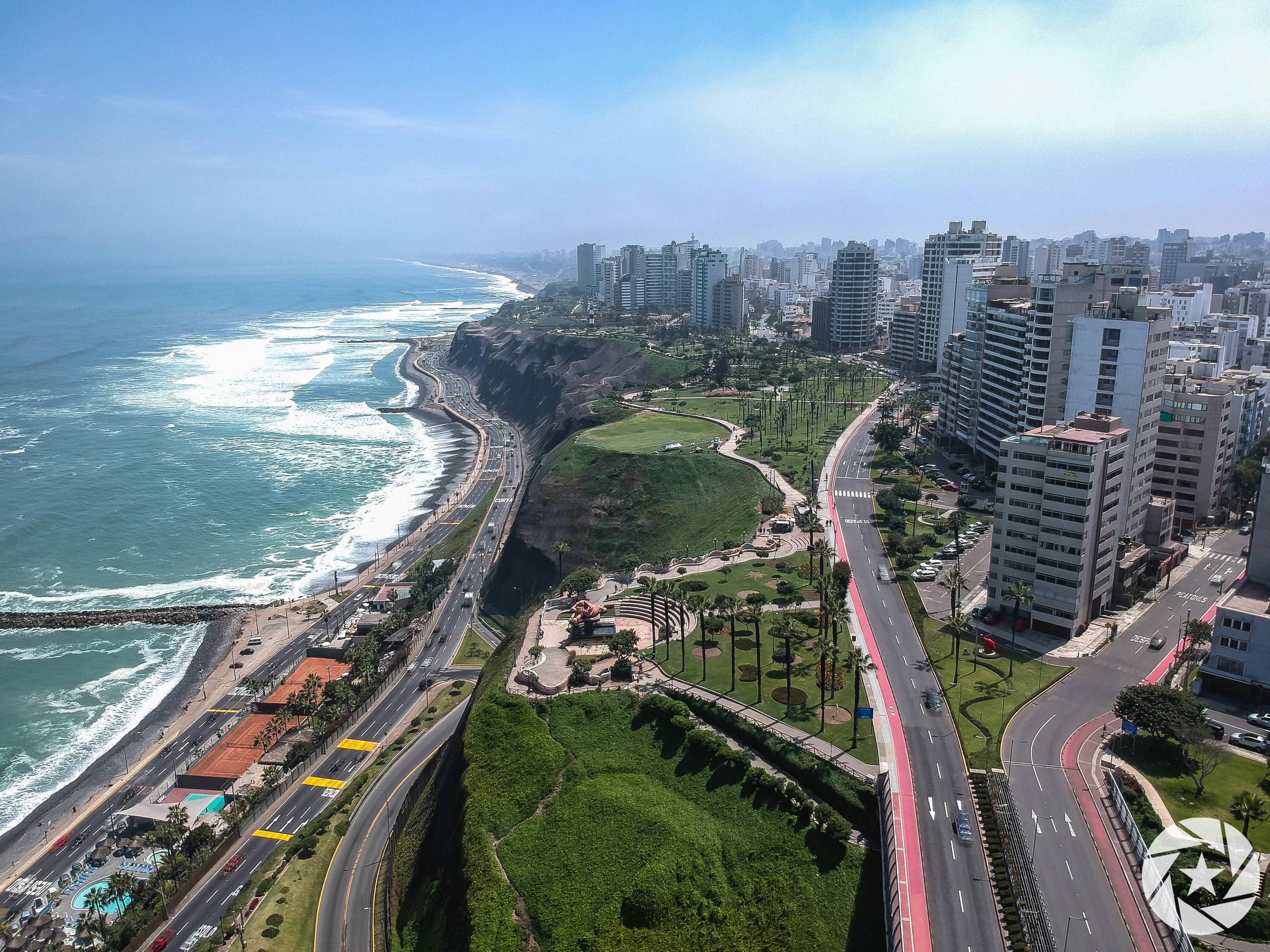 Beautiful Miraflores, LIma on the Pacific Coast of Peru