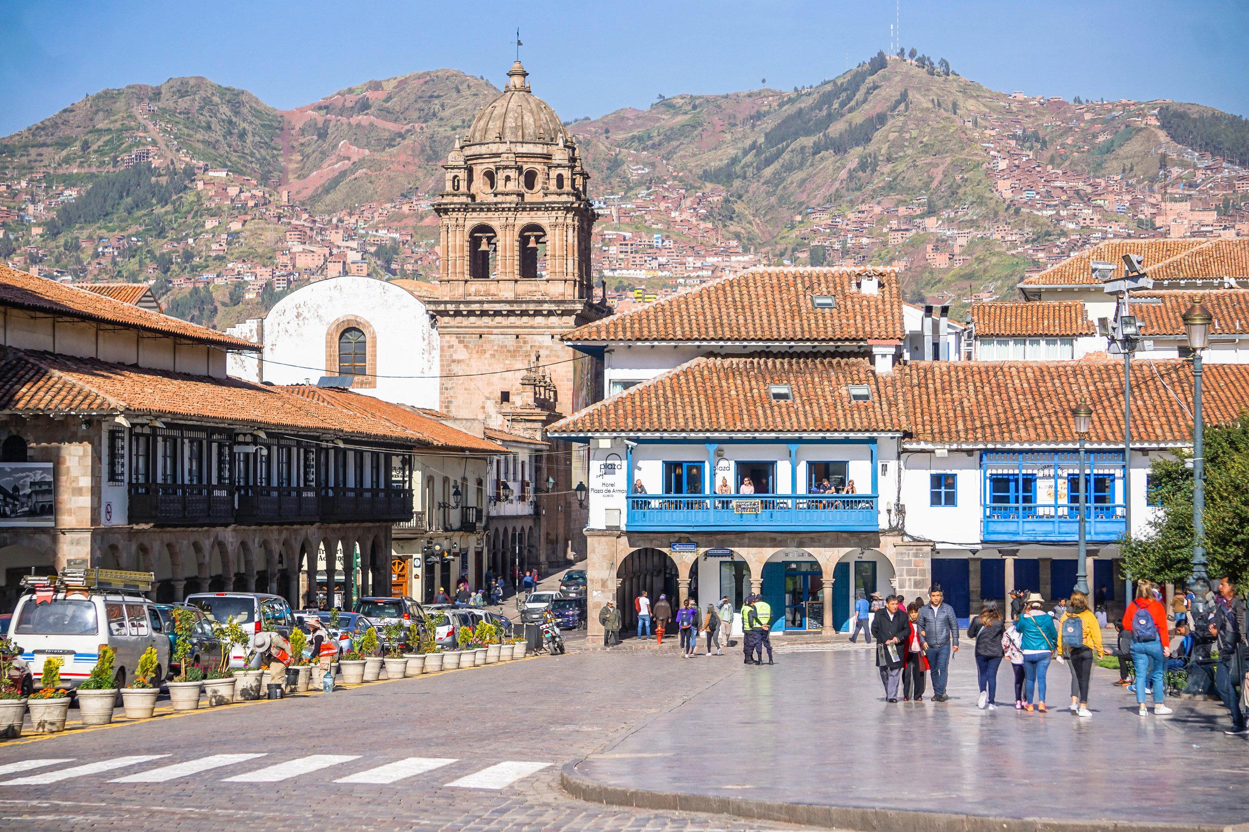Plaza del Armas in Cusco, Peru