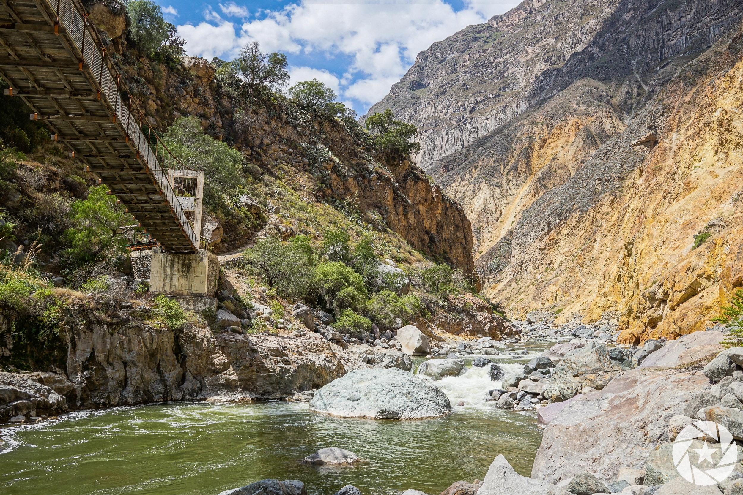 Hiking Colca Canyon near Arequipa, Peru