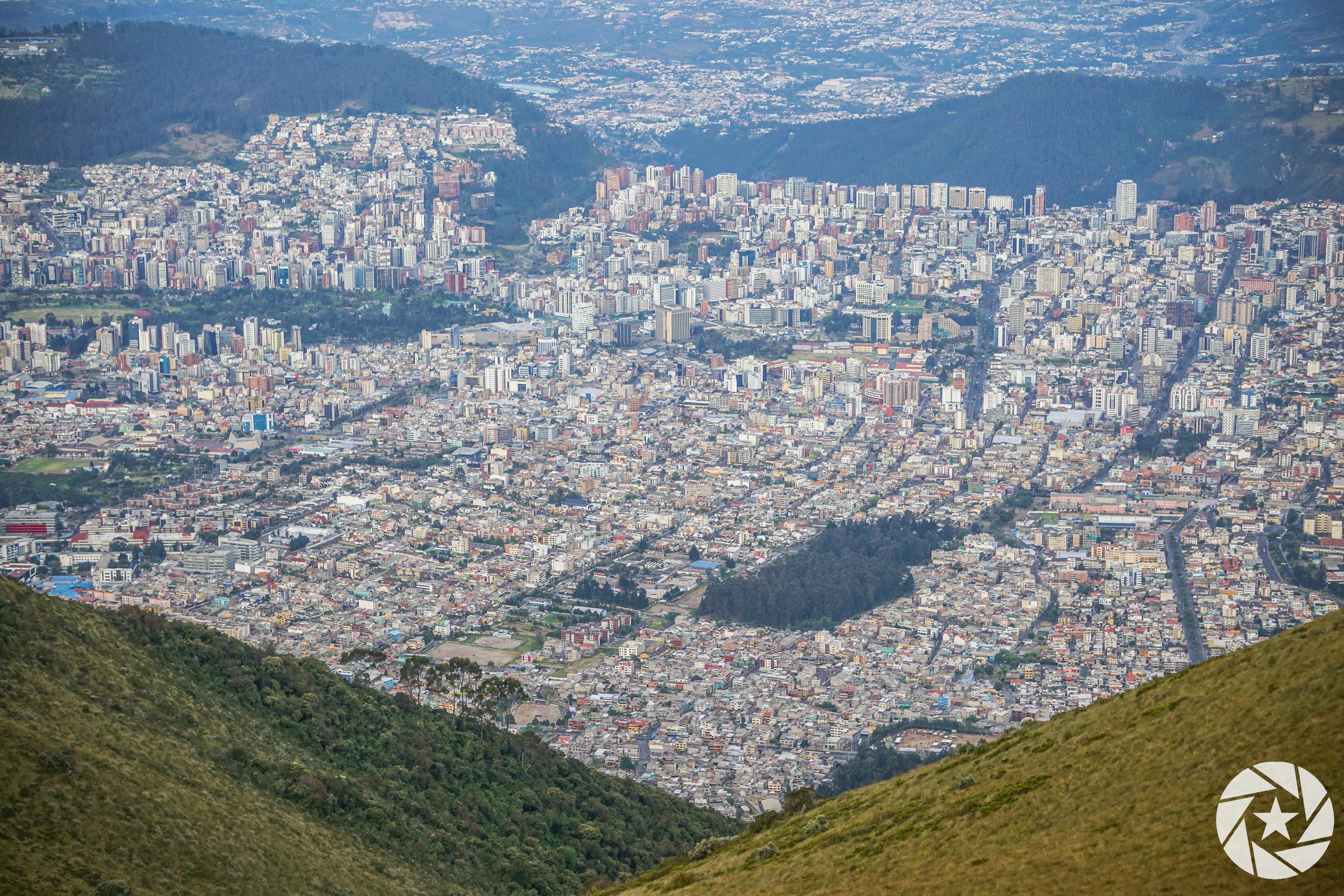Beautiful view of Quito, Ecuador from Teleferico.