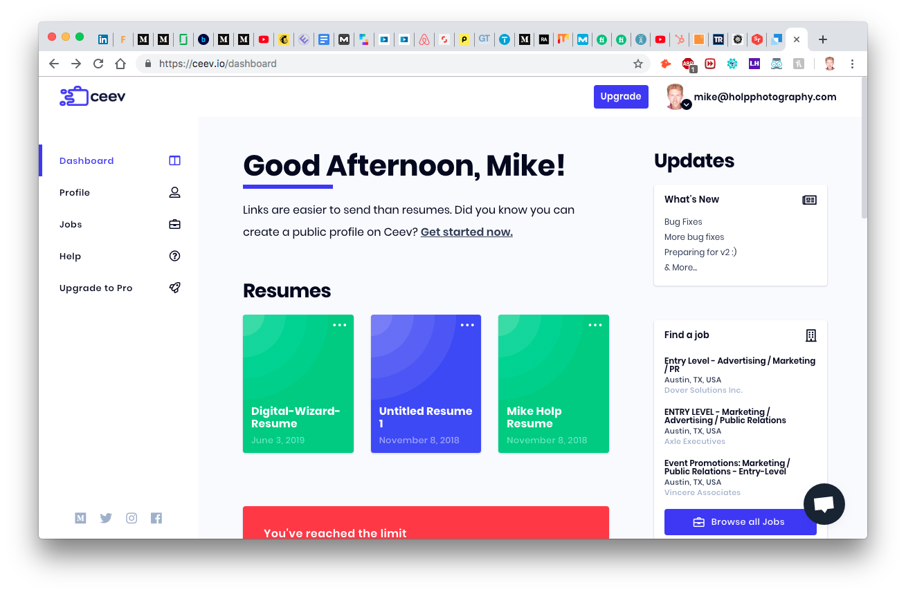 Design a stunning resume in minutes. Simply add content or import your LinkedIn, choose a template, then customize it with fonts, colors, icons, and more.