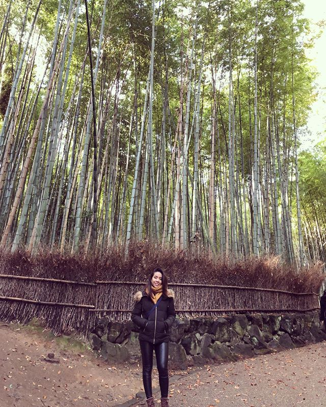 Missing @wenxilee, cold weather, Kyoto, tall trees, and long hair 💇♀️ #tbt