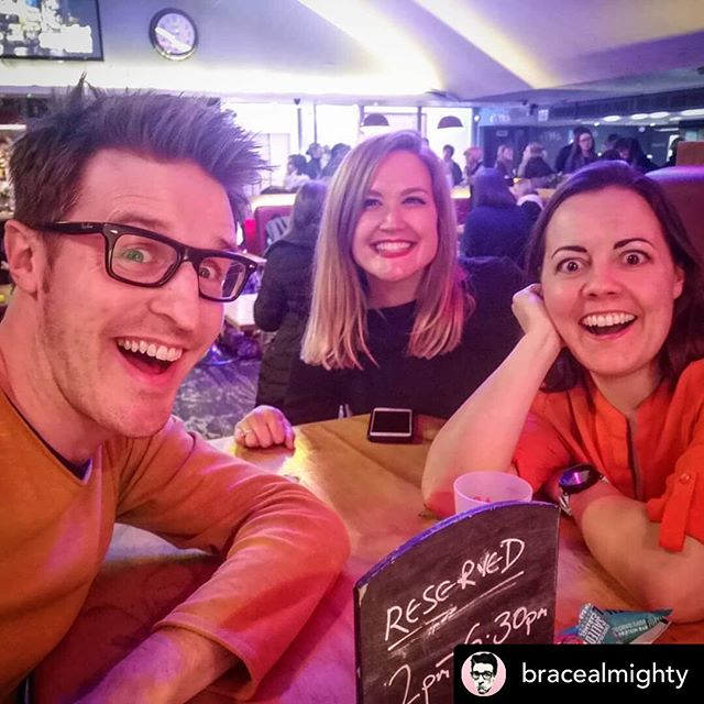 Sprout, Cranberry, and Cheese: reunited.❤️❤️❤️#REPOST @bracealmighty Drinks and comedy with these two ridiculously brilliant humans... @burkeandallen @geriallenactor @amyinlondontown #comedy #soho @sohotheatre #sohotheatre #london #londontown #camera #huawei #p20 #phone #insta #instagram #nofilter #instagood #instaphoto #instapic #instalove #instadaily #instagramhub #work #working #camera #instashots #act #actor #actors #acting #actorslife