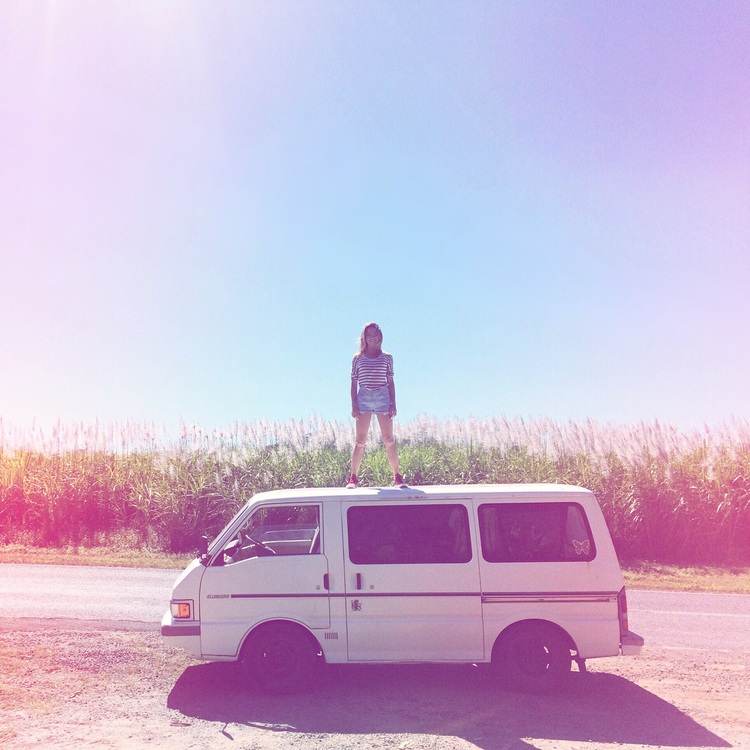 Photo from the sugarcane fields near Whitsunday, Queensland.Because sometimes you gotta let go of everything, hop in the van, and just drive... #FearlessFriday