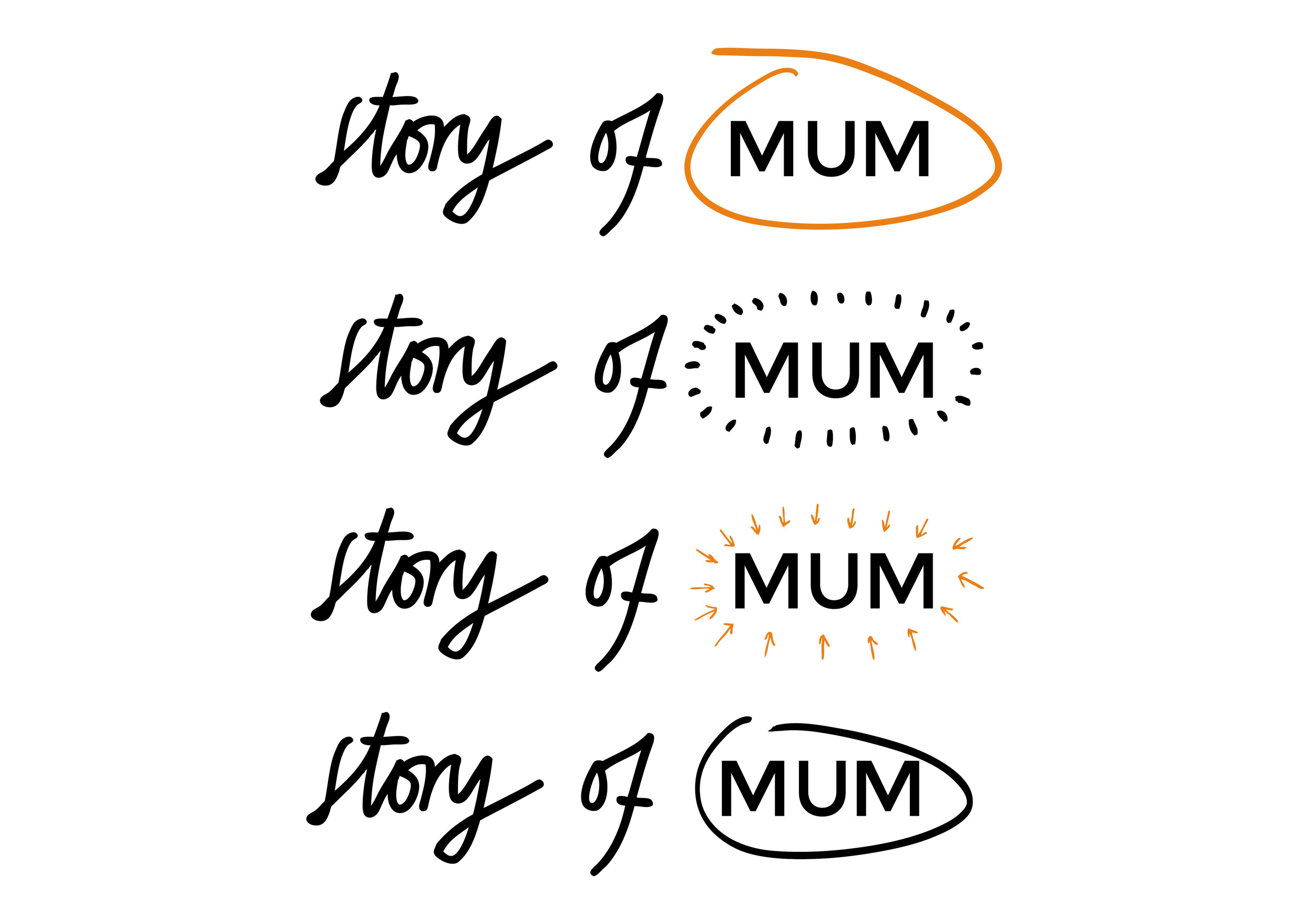 Identity for a Mums Network Web site  Placing emphasis on 'Mum' / 'me time'