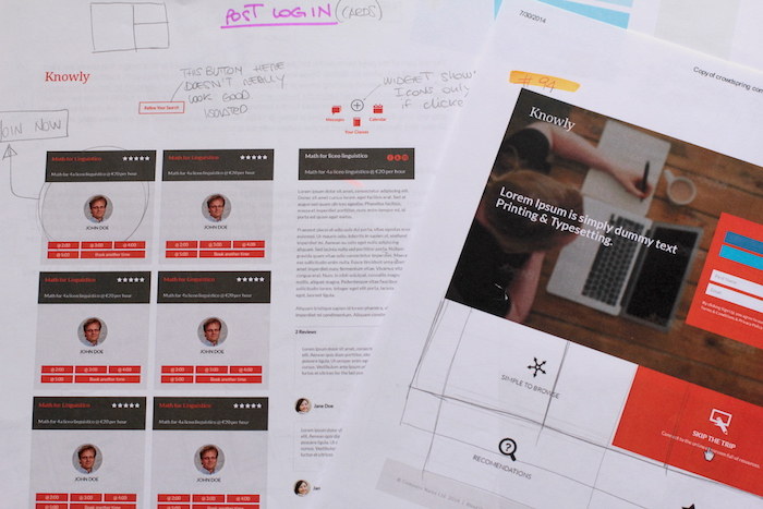 Feedback to the designers, daily presented to the CEO and COO.