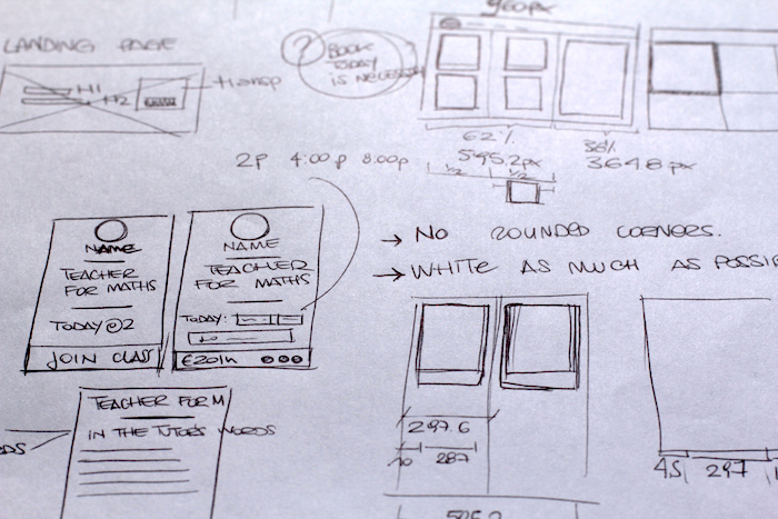 Feedback for the design team : detailedwritten documentation has been supported by sketches and wireframes.