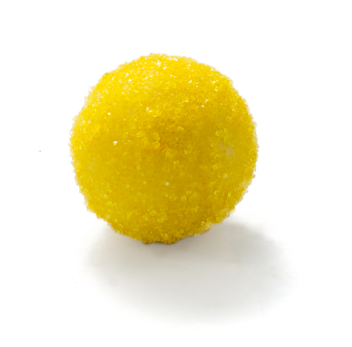 <B>SONNY</B>  <P ALIGN=Left>White chocolate lemon zest ganache truffle rolled in yellow sugar</P>