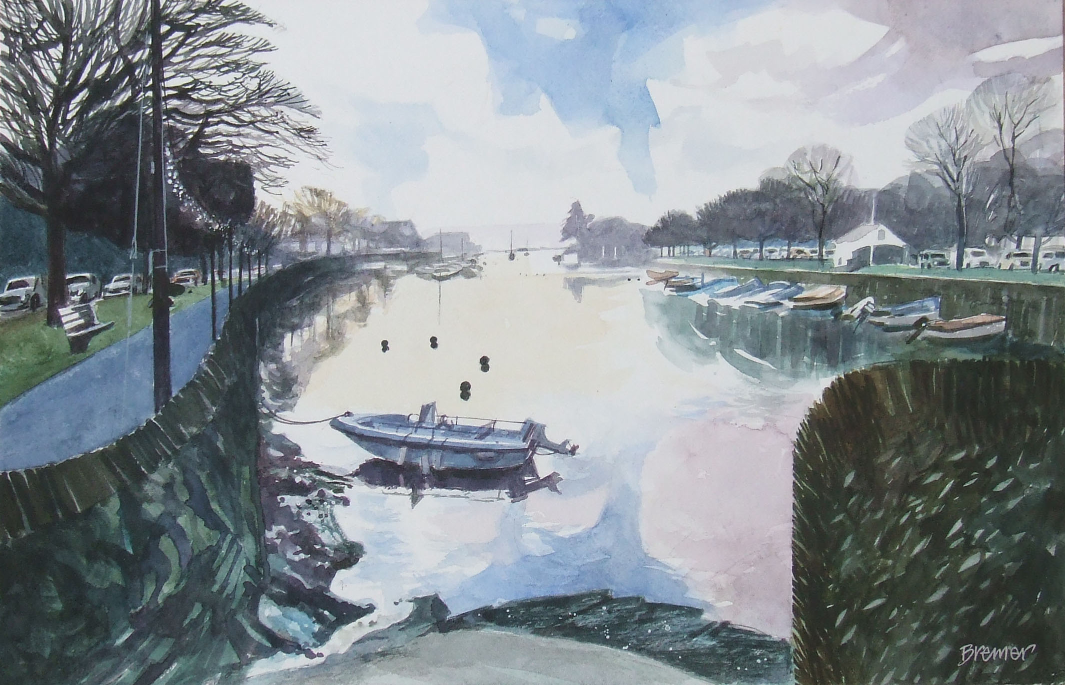 KINGSBRIDGE WATER  watercolour