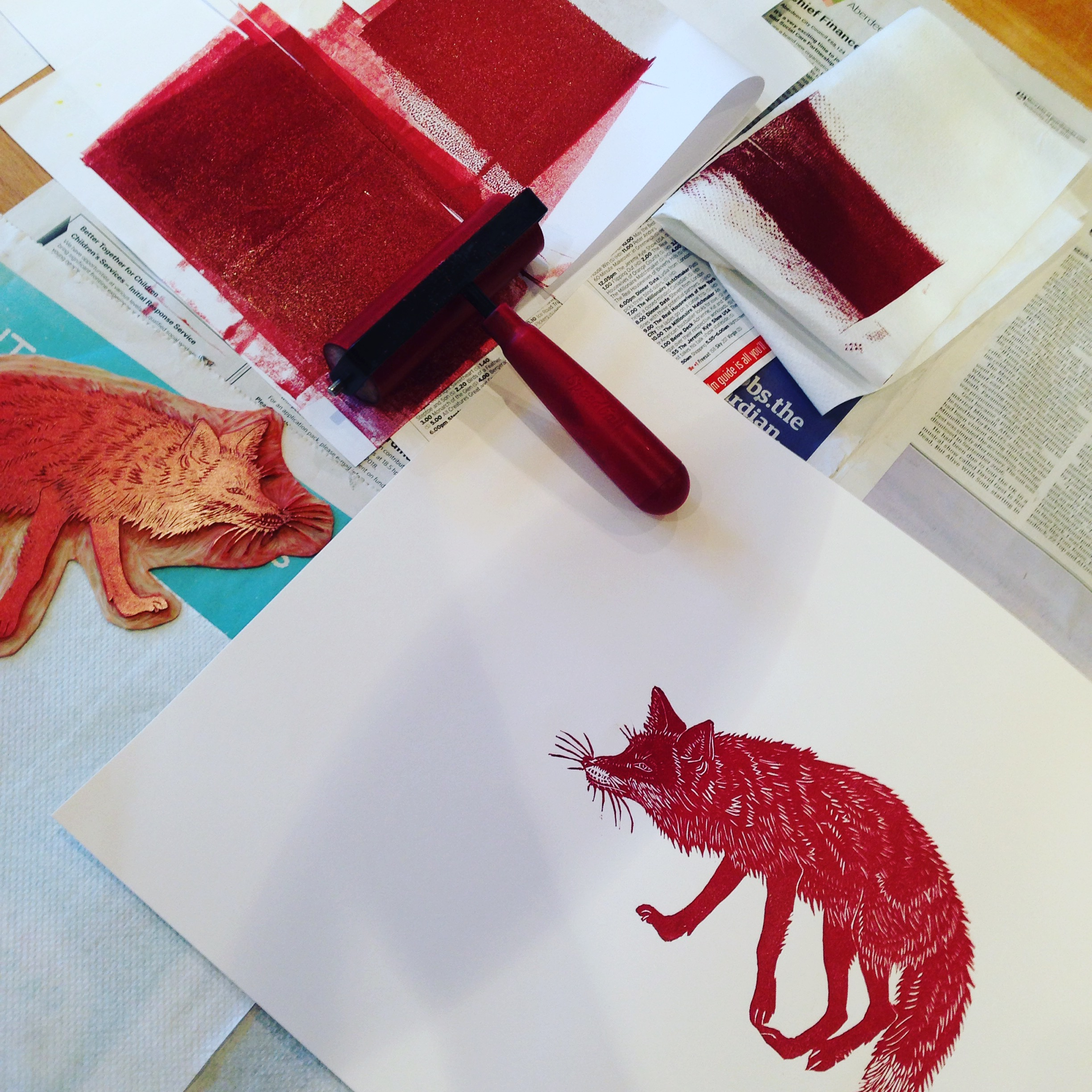 printing red fox by Lindsay McDonagh