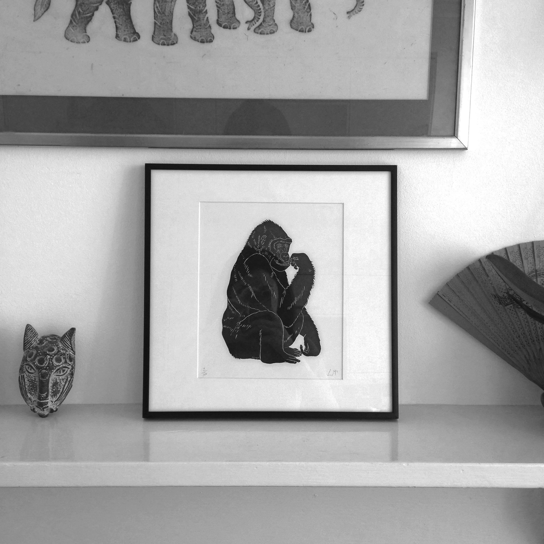 Framed Gorilla by Lindsay McDonagh