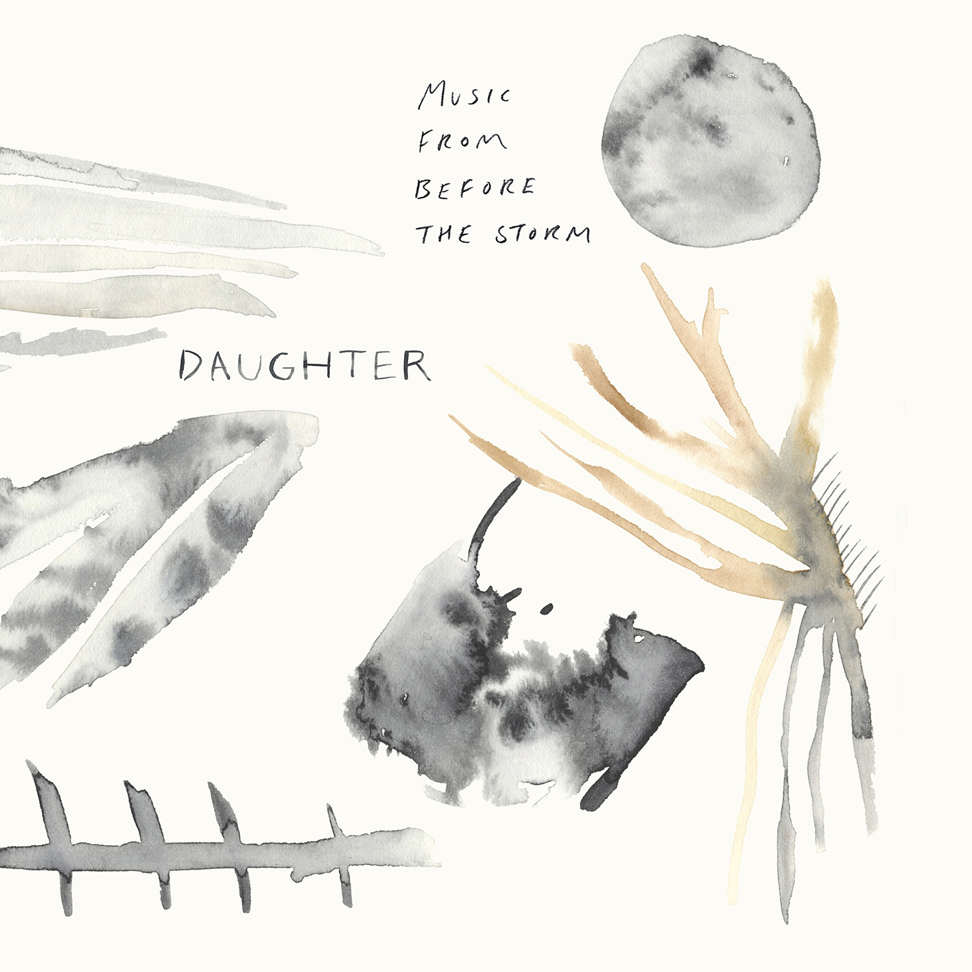 Watercolour and cover design by Lindsay McDonagh for Daughter album Music from before the storm