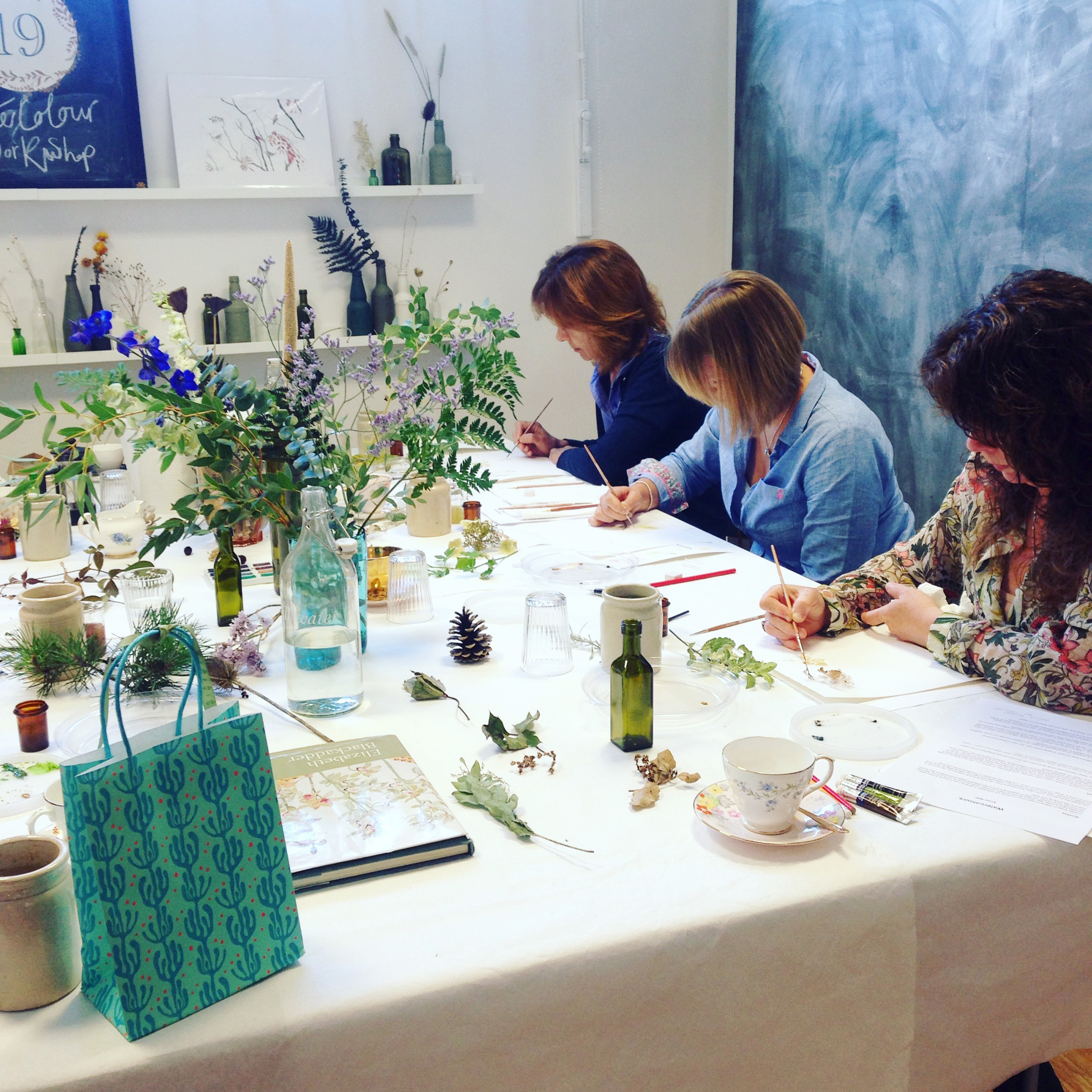 Botanical watercolour workshop. Photo by Lindsay McDonagh