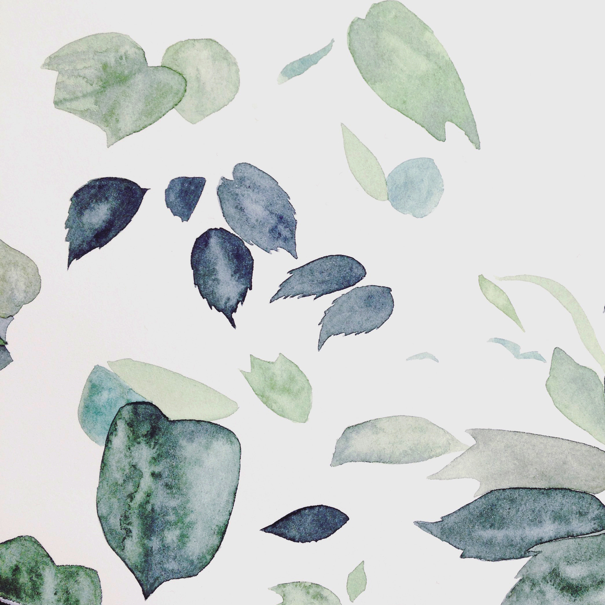 Leaves watercolour by Lindsay McDonagh