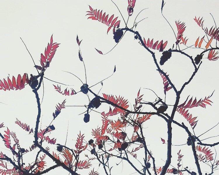 Autumn Tree patterns Lindsay McDonagh