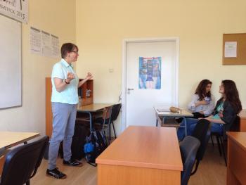Telling stories at the Ezikova Gimnasia in Plovdiv